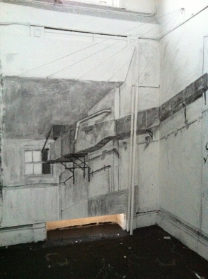 Avital Burg Wall Drawing Charcoal