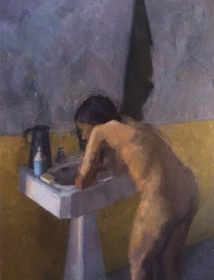 Avital Burg Figure Oil on Linen
