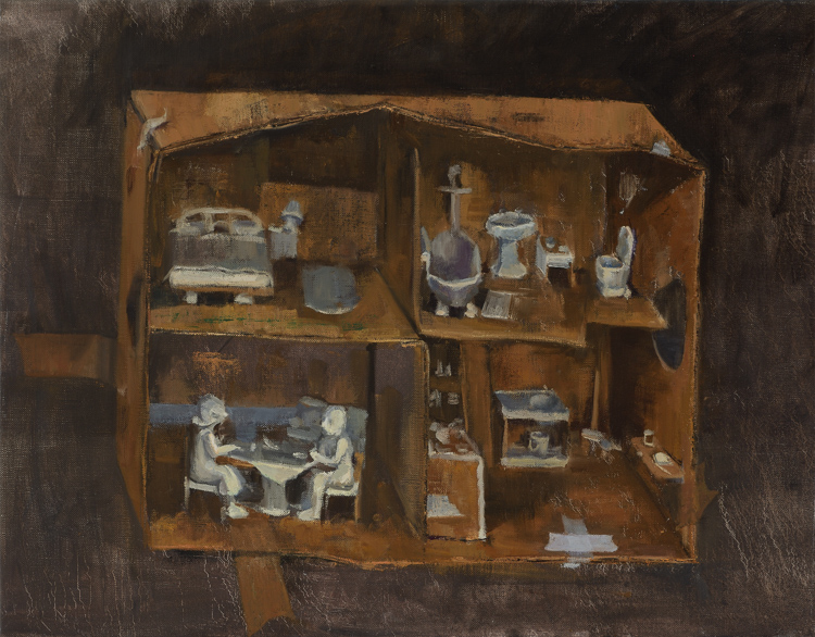 Avital Burg Little Boxes 2012-2013 Oil on Linen