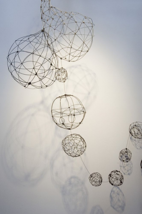 Hanging Photos On Wire barbara gilhooly : sculpture : wire orbs