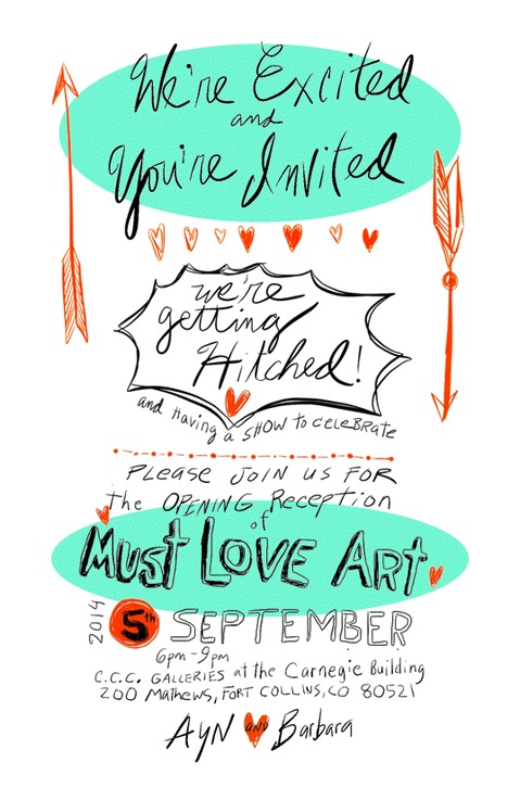 Must Love Art The Invite