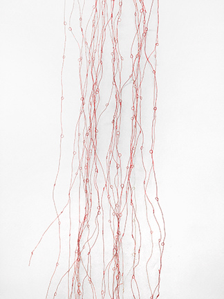 Barbara Hatfield  wall drawings coated copper wire