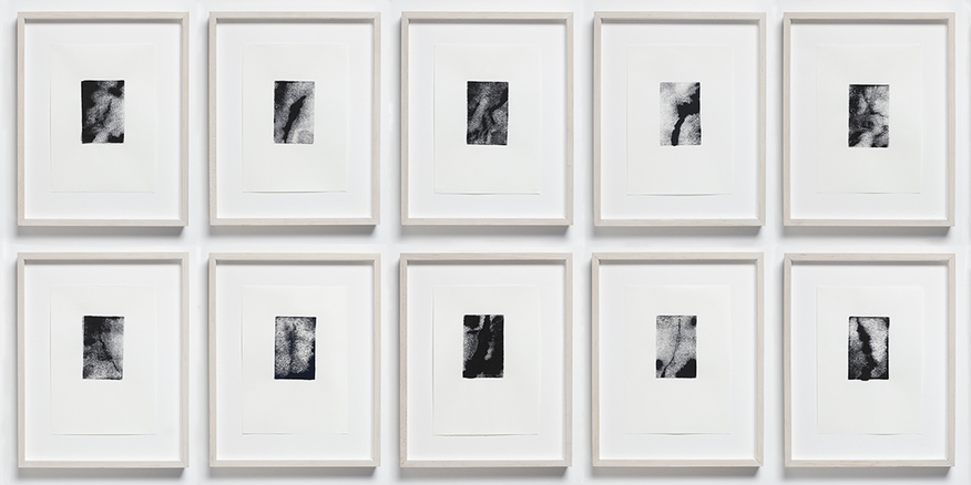 Barbara Hatfield 10 views monotypes, ink on paper