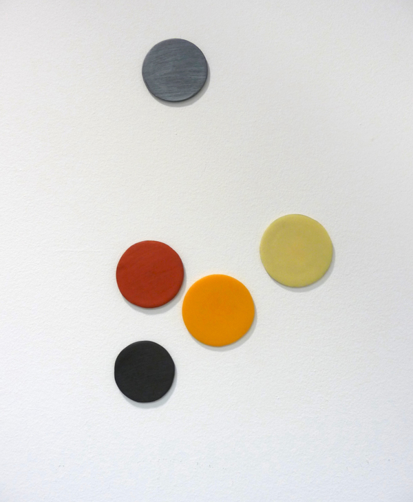 Barbara Hatfield dots beeswax, oil paint, graphite