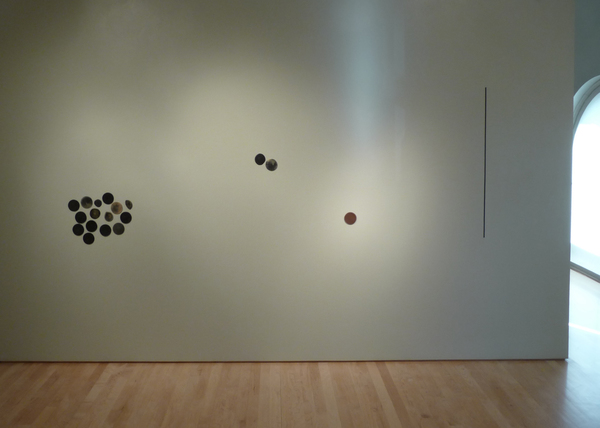 Barbara Hatfield dots beeswax, oil paint, graphite, tape