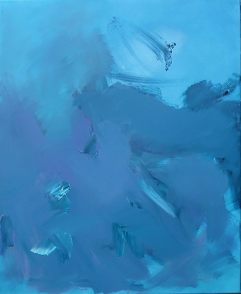 "Water, depth, turbulence 2, 2009, oil on canvas, 28"" x 32"""
