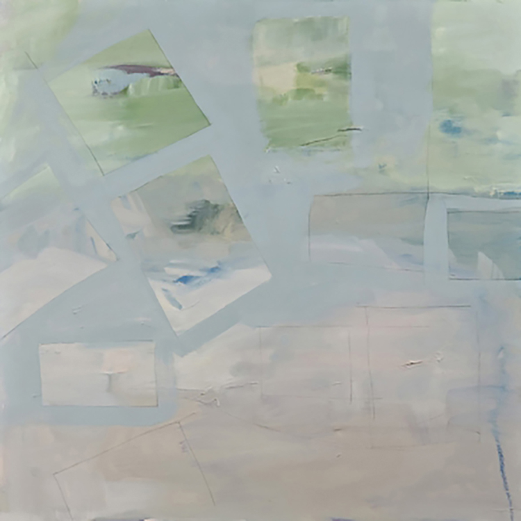 "Selected early works Approximate landscape, 2008, oil on canvas, 30"" x 30"""