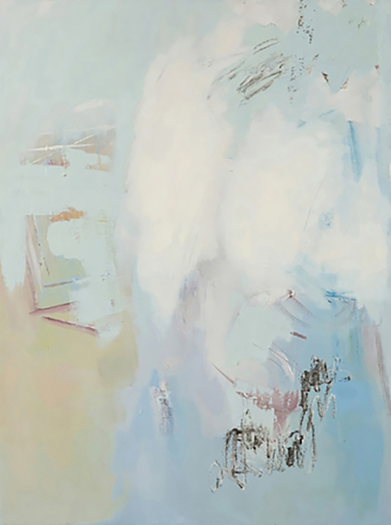 "Selected early works Loss of language, 2008, oil on canvas, 30"" x 40"""