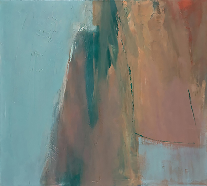 "Selected early works Suspended, 2003, oil on linen, 36"" x 38"""