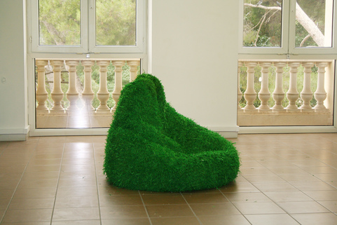 Barbara Gallucci Sculpture and Installation  artificial grass, photographs