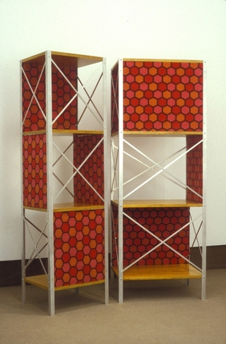 Barbara Gallucci Sculpture and Installation aluminum, carpet, wood