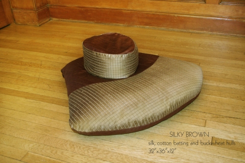 Barbara Gallucci Design Projects silk, cotton batting, buckwheat hulls