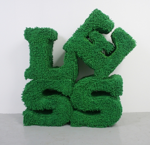 Barbara Gallucci Sculpture and Installation shag chenille over plywood