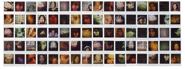 Barbara Lubliner Time Frames Marking Time Polaroids, pigment ink, foam-core