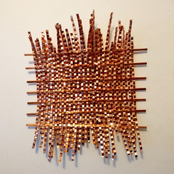 Barbara Lubliner Weavings copper