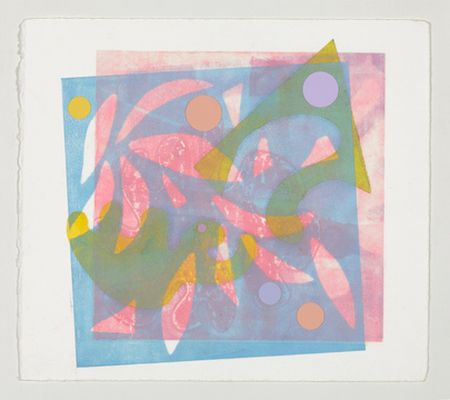 Barbara Lubliner Monoprints monoprint with collage