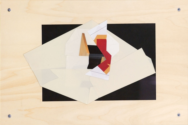 BART GULLEY Show: From Image to Object: Painting to Collage collage on birch-ply