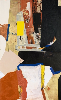 BART GULLEY Show: From Image to Object: Painting to Collage oil on panel