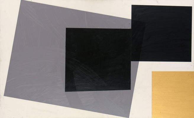 BART GULLEY Show: Black, White & Blue oil on birch-ply