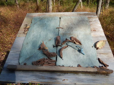 Beth Haber Installations (in landscape) Slate, Wood