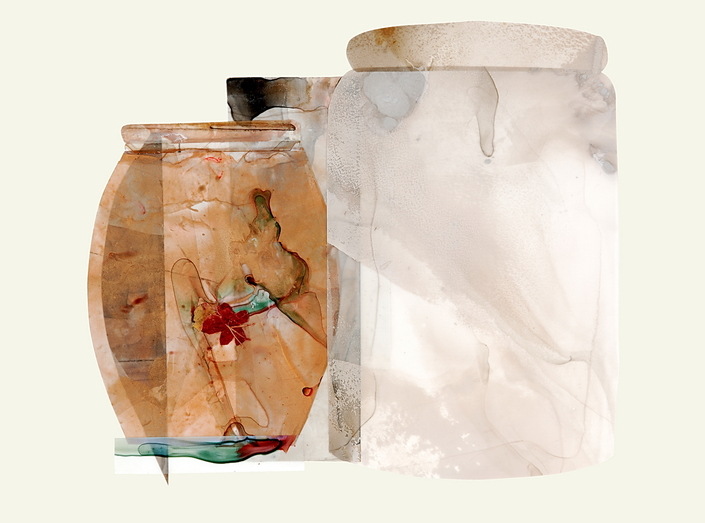 Beth Haber Vessels acrylic and mylar on paper
