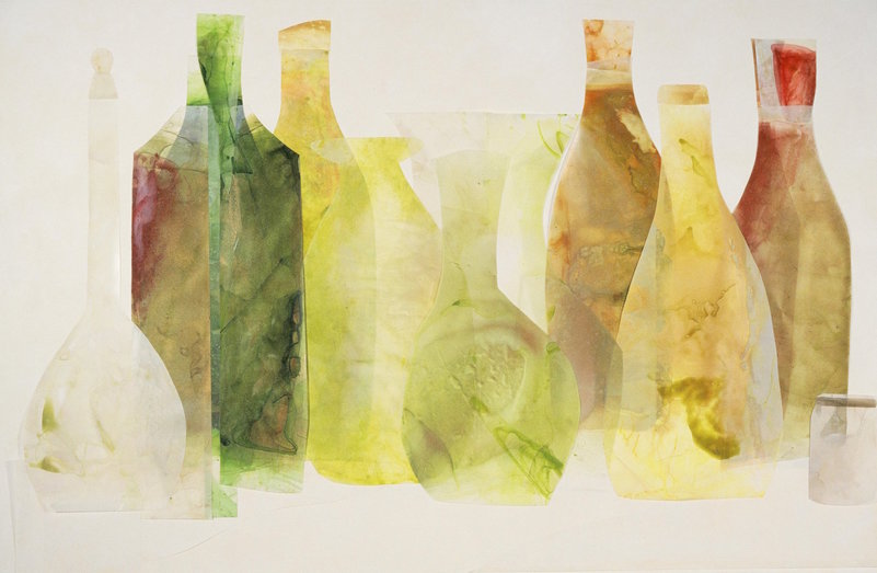 Beth Haber Vessels acrylic, mylar on canvas