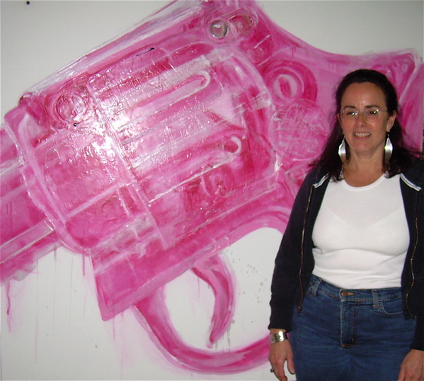 Gallery Installations Pink Cap Gun I @ Portland Museum of Art Biennial Exhibition 2011