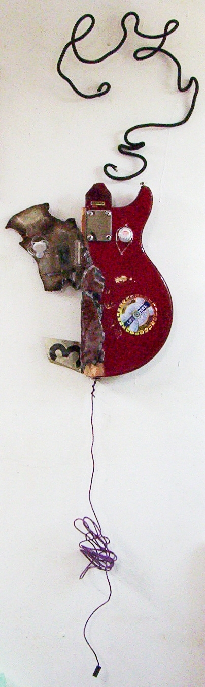 3D / Encaustic / Collage / Assemblage Red Body