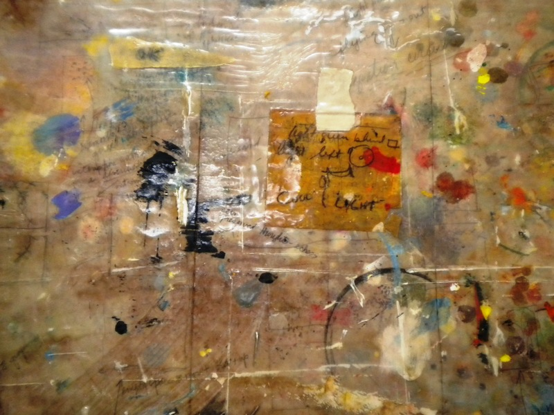 3D / Encaustic / Collage / Assemblage detail of Genesis Table