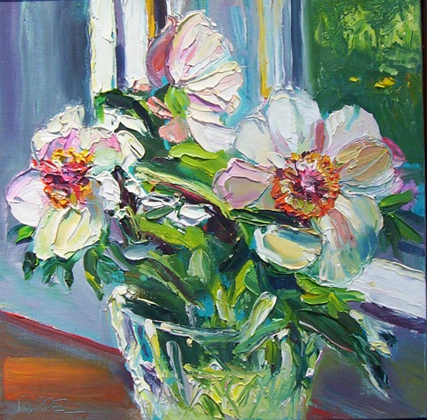 Big Sky Studio Works, and Plein Air Abstractions Nosegay Peony