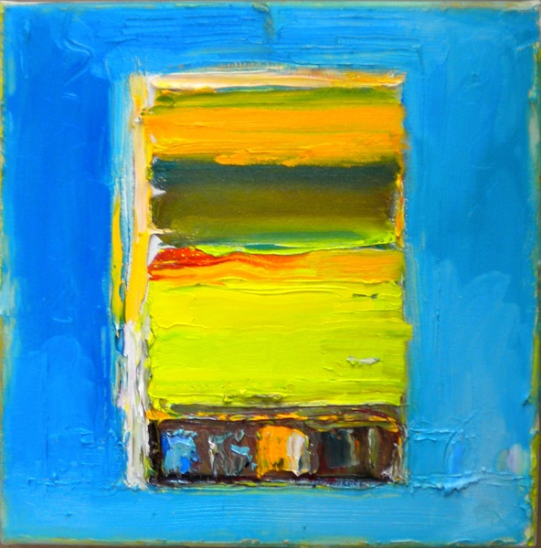 Big Sky Studio Works, and Plein Air Abstractions Opus # 6 (Forsythia Window)