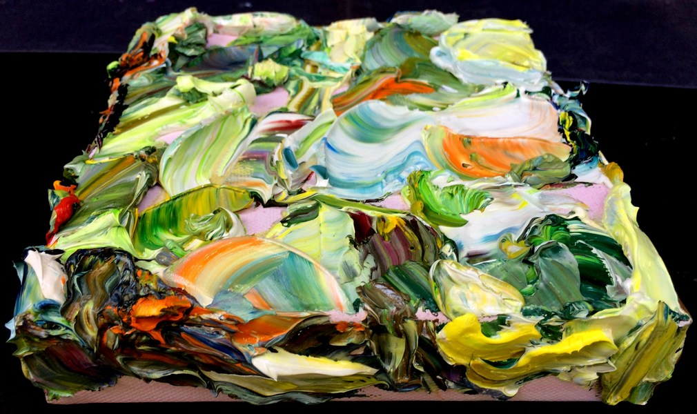 Garden of Delights / 3D Paintings Verdant Earth, top and side views