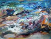 The Sea and Aggregate Abstractions oil on linen