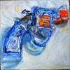 Water Pistols, Cap Guns, and Targets oil on canvas