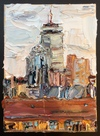 The Pru Skyline, Boston Series oil on canvas