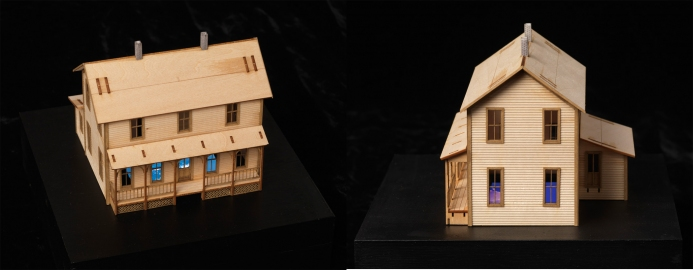 BIG PAPER AIRPLANE - ETHAN MURROW L.A. - Excess wooden house with video