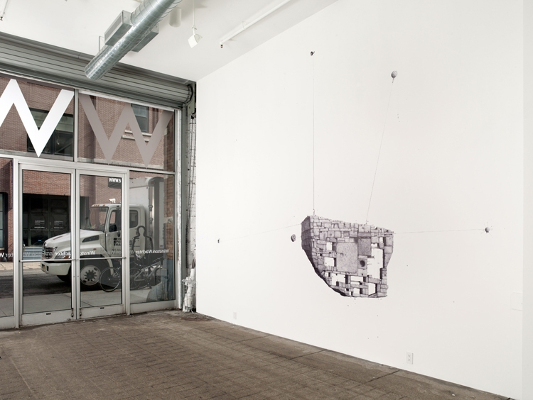 Line Drawing Nyc : Big paper airplane ethan murrow : wall drawings nyc listening