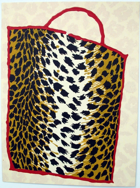 Bag Drawings Leopard Bag