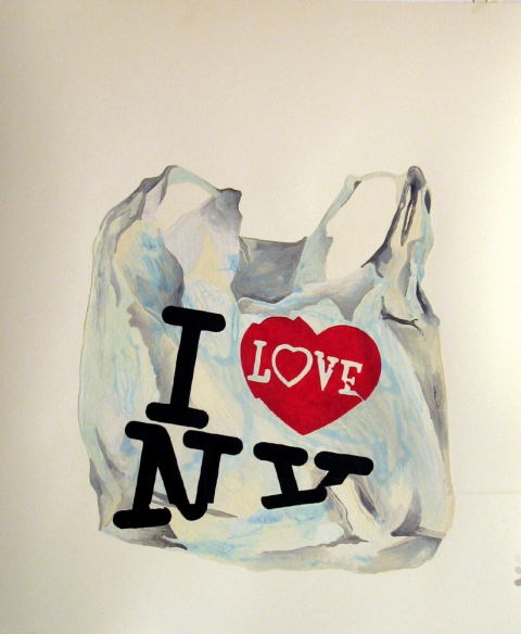 Bag Drawings I love NY Bag