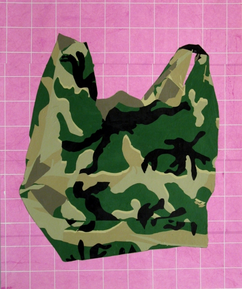 Bag Drawings Pink Camouflage Bag