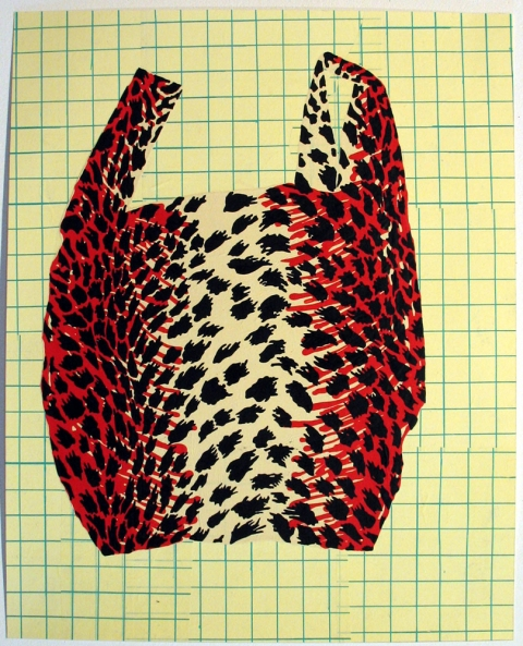 Bag Drawings Red Leopard Bag