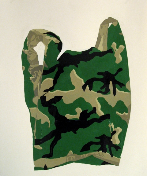 Bag Drawings White Camouflage Bag