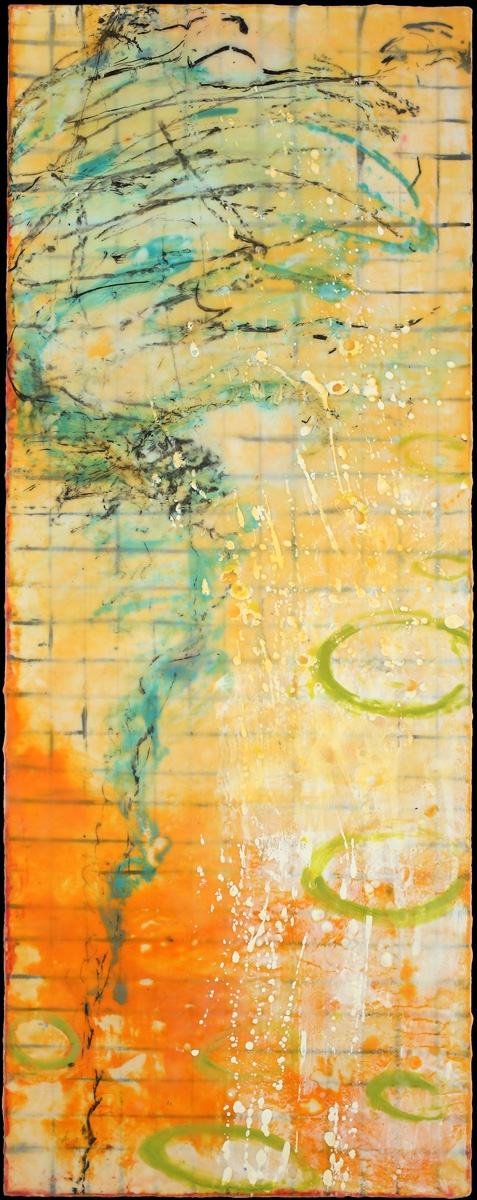 BINNIE BIRSTEIN what lies beneath encaustic, graphite on birch panel