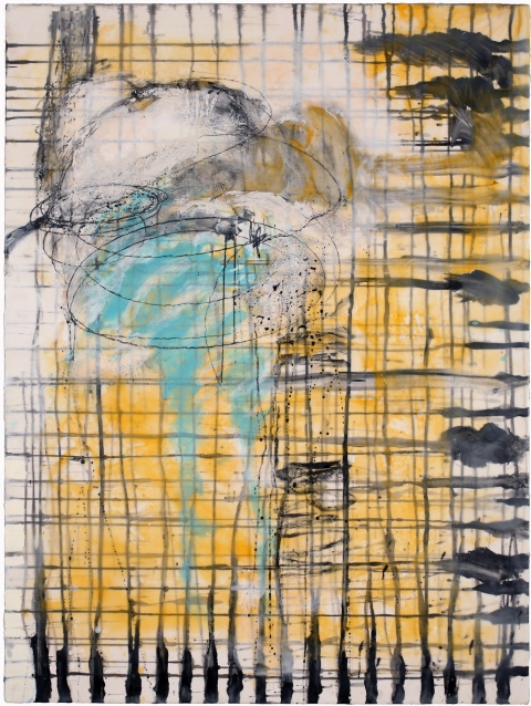 BINNIE BIRSTEIN what lies beneath encaustic, india ink, graphite, oil on birch panel