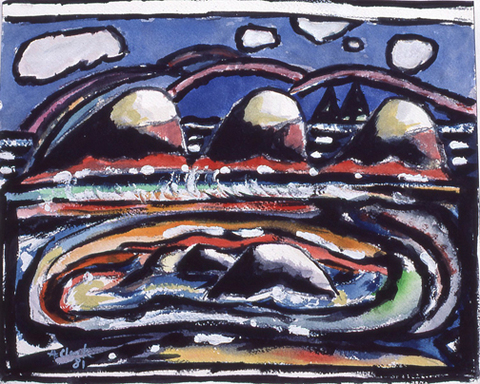 Criehaven, Before and After The Origen of Rocks and Clouds (for Marsden Hartley