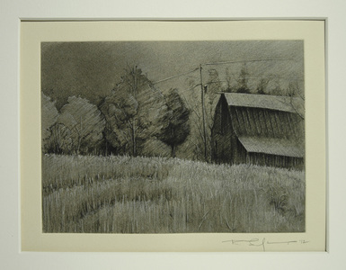 Bob Langnas Some Observational Work Etching, white pencil