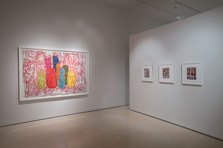 "Installation View: ""Bo Joseph: Empire of Spoils,"" McClain Gallery, 2012 (© Nash Baker)"