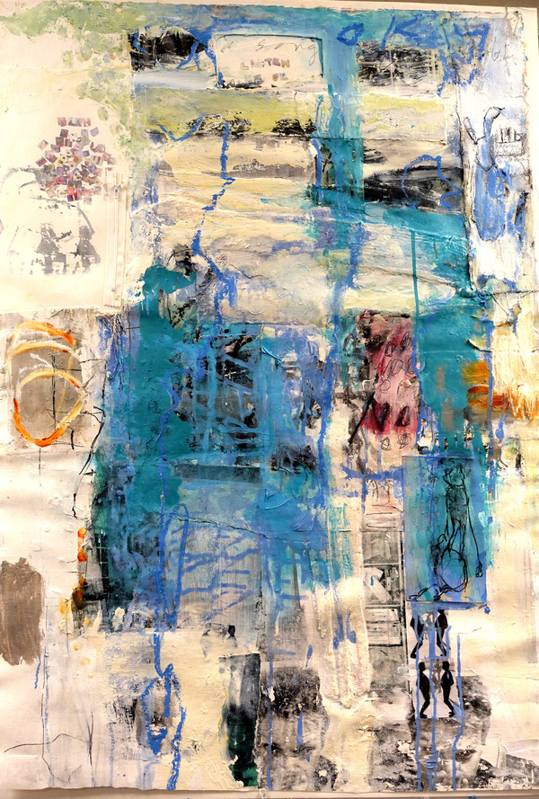 Bonney Goldstein Paintings on Paper mixed media on paper