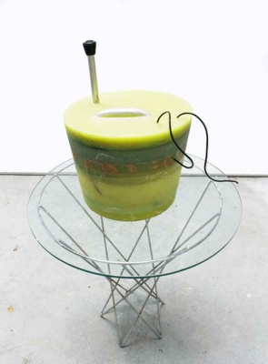 Cast Wax Green Bucket