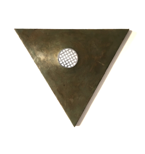 Encaustics  Bronze Triangle
